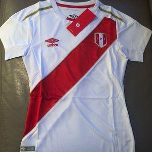 Umbro Tops - Peru Home soccer jersey for women 3d5f1e979b